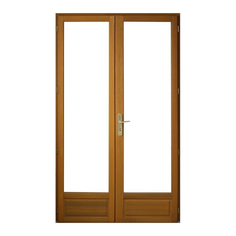 Porte fen tre 2 vantaux en bois exotique h215 x l140 cm pas cher achat vente en ligne for Fenetre 140 x 90