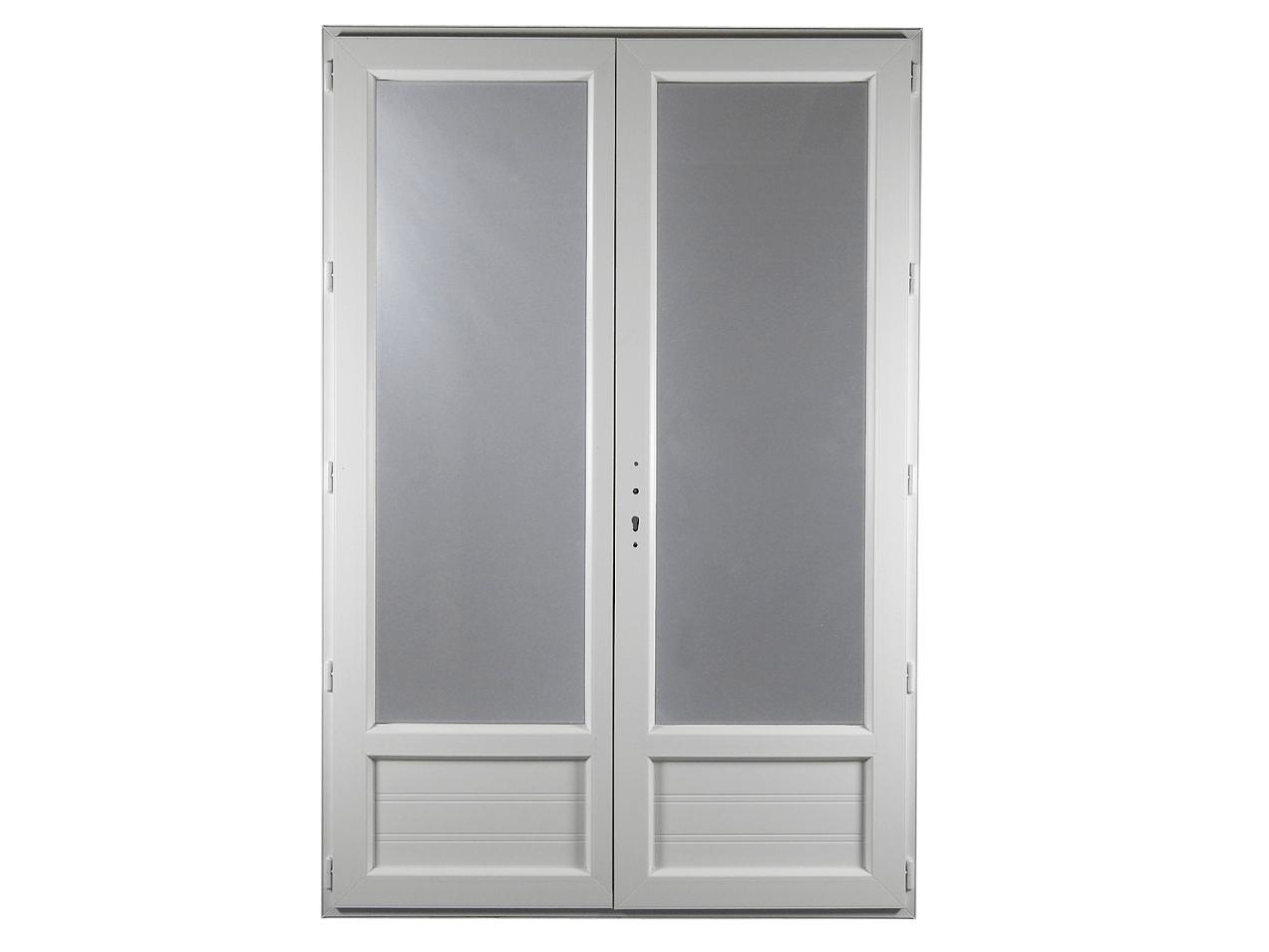Porte fen tre pvc gamme e pro 2 vantaux h 205 x l 120 cm for Porte fenetre arrondie