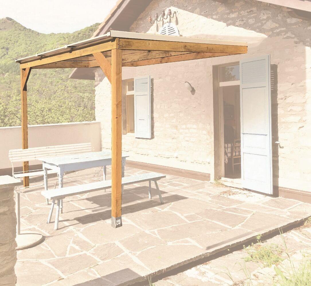 Comment Fixer Une Tonnelle Sans Percer kit toiture pour pergola 3 x 3 m