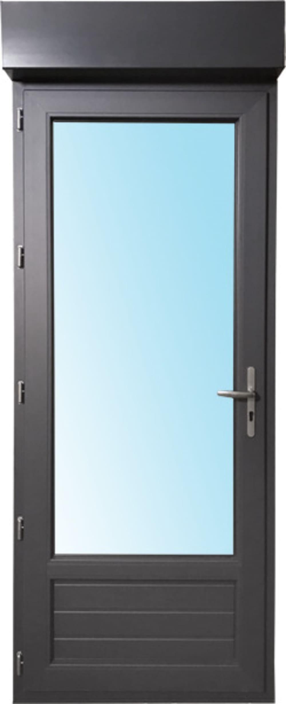 Porte Fenêtre 1 Vantail En Pvc H205xl80cm Volet Roulant Intégré