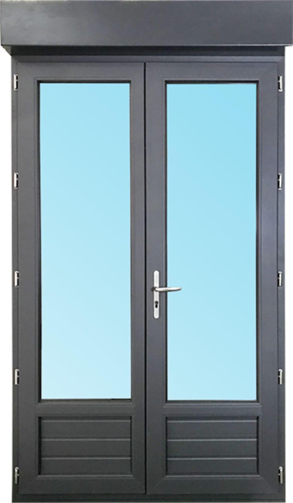 Porte Fenetre 2 Vantaux En Pvc H215xl120cm Volet Roulant Integre