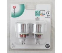Lot de 2 ampoules GU10-9w/R31W