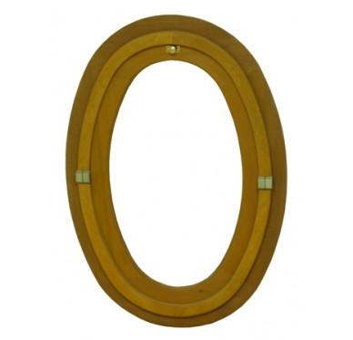 Oeil de bœuf bois ovale H65xL50cm