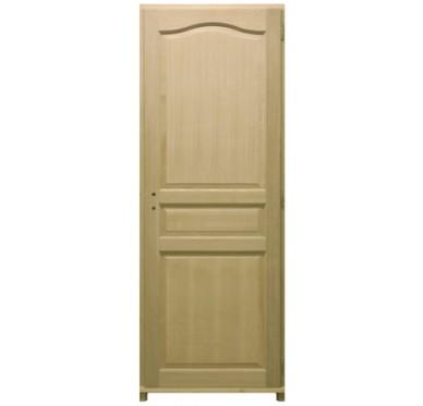 bloc porte plaqu ch ne 3 panneaux h204xl73cm poussant gauche. Black Bedroom Furniture Sets. Home Design Ideas