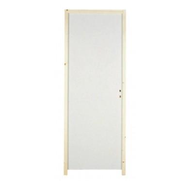 bloc porte isoplane pr peint h204xl 63 cm poussant gauche