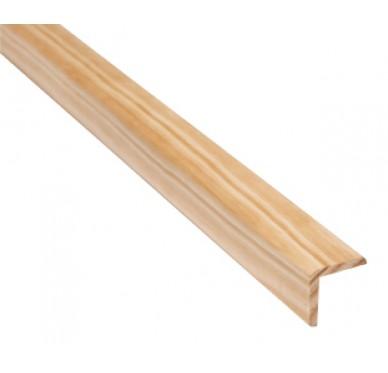Baguette d'angle en pin 23 x 23 x 2400 mm