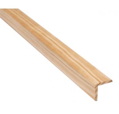 Baguette d'angle en pin 28 x 28 x 2400 mm