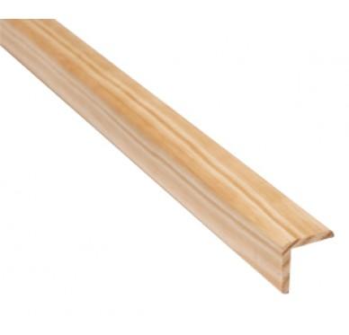 Baguette d'angle en pin 38 x 38 x 2400 mm