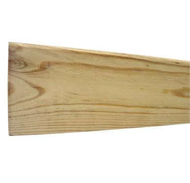 Plinthe bord arrondi en pin 10X100X2400mm