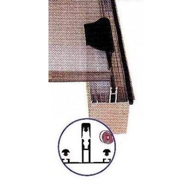 Profil de toiture alu brut type chevron, L600cm