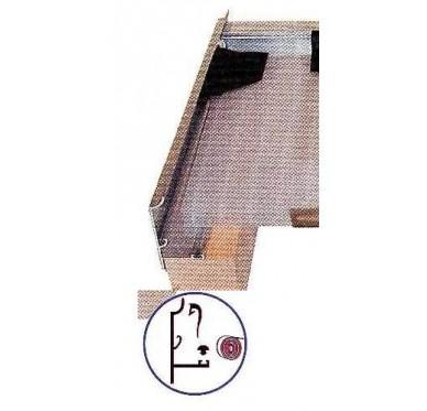 Profil de toiture alu brut type rive, L600cm
