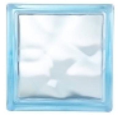 Brique de verre ondulée couleur bleu clair