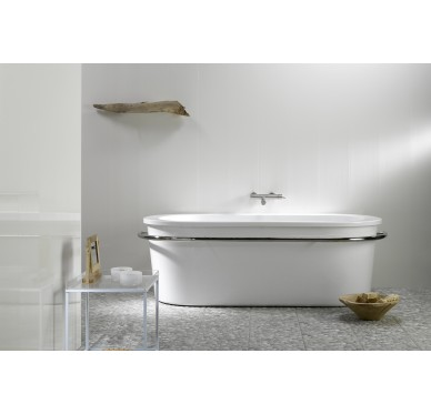 Lambris murs et  plafonds imperméable blanc 390 x 10 cm