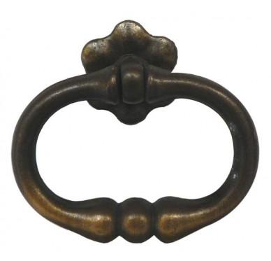 Lot de 4 anneaux rustiques battant vieux bronze