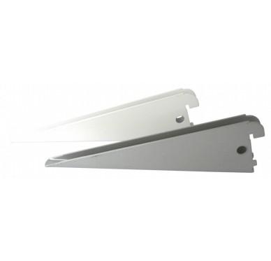 Console double L27cm pas de 32mm gris métallisé