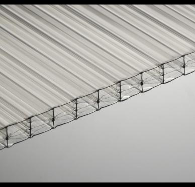 Plaque polycarbonate 16mm translucide, 3 x 0.98 m, 2.1kg/m²