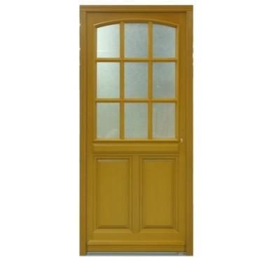 Porte d'entrée bois Aline vitrée poussant gauche H215xL90cm