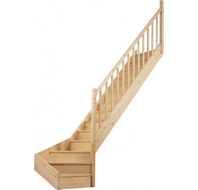 escalier droit demi tournant