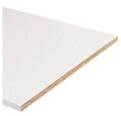 Tablette en mélaminé blanc L2500xl400xE18mm