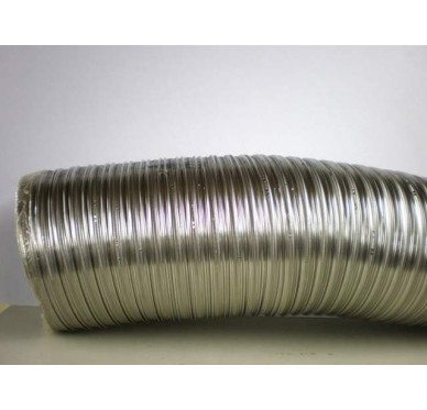 Gaine flexible double peau en inox Diam. 180 mm
