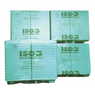 Carreaux de plâtre alvéolaire Standard, Ép : 7cm