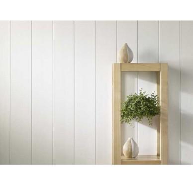 Lambris PVC blanc laqué 260 x 25 cm
