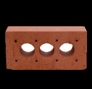 Brique de construction classique en argile 3 trous