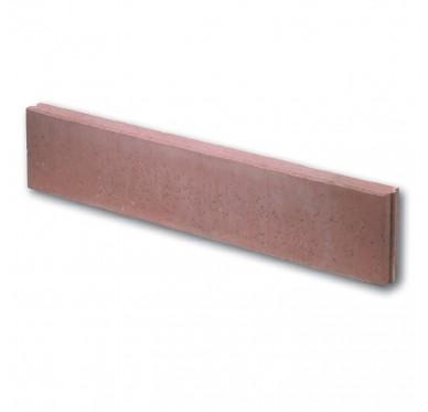 Bordure en béton droite couleur rouge