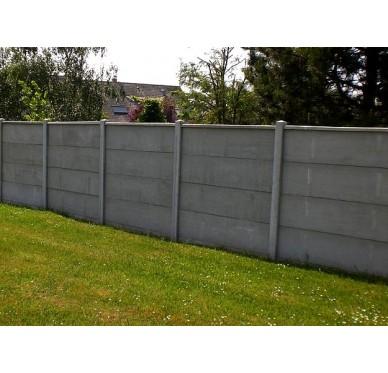 Plaque pour clôture pleine en béton