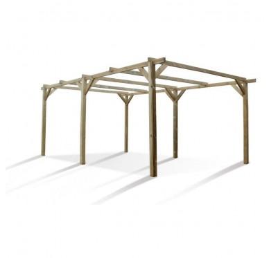 Carport en bois 1 voiture 3 x 5 mètres