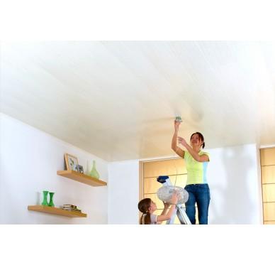 Panneaux muraux et de plafonds imperméables frêne cérusé 260 x 25 cm