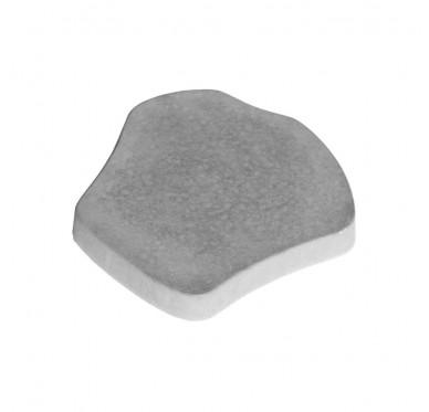 Pas japonais lisse en béton gris