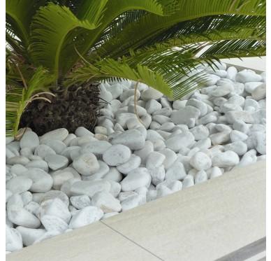 Galet 30-40/60 marbre roulé blanc 25kg