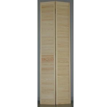 Porte de placard pliante persiennée H205xL61cm