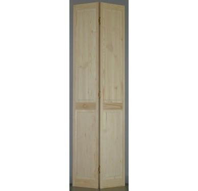 Porte de placard pliante pleine pin H205xL61cm