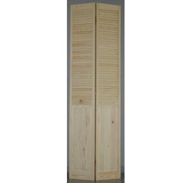 Porte de placard pliante 1/2 persiennée H205xL61cm