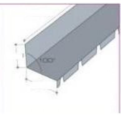 Faitière crantée pour bac acier isolé contre mur gris ardoise