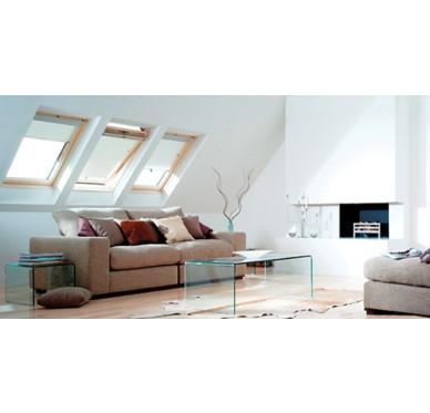 Fenêtre de toit en pin H78xL55cm