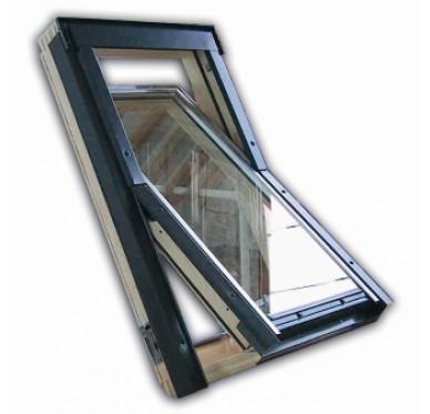 Fenêtre de toit en pin H.118 x L.114 cm