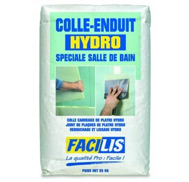 Colle et enduit multi-fonctions hydrofuge