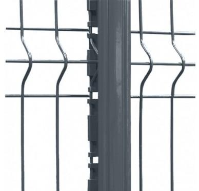 Poteau de clôture gris hauteur 1.70 m