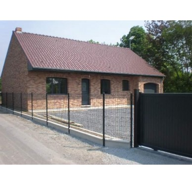 Poteau de clôture noir hauteur 1.70 m