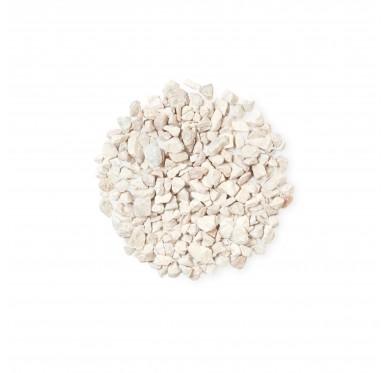 Gravier 8/16 marbre blanc sac de 25kg