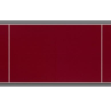 Panneaux muraux à effet carrelage rouge 120 x 25 cm