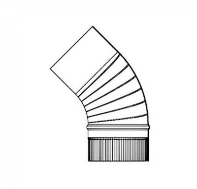 Coude 45°C en émaillé gris fonte