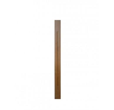 Poteau rectangle en hêtre décor mouchette pour garde-corps