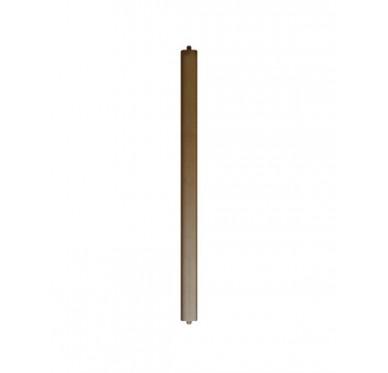 Balustre rectangle sans décors en hêtre pour garde-corps
