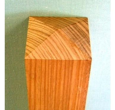 Poteau rectangle sans décors en hêtre pour garde-corps