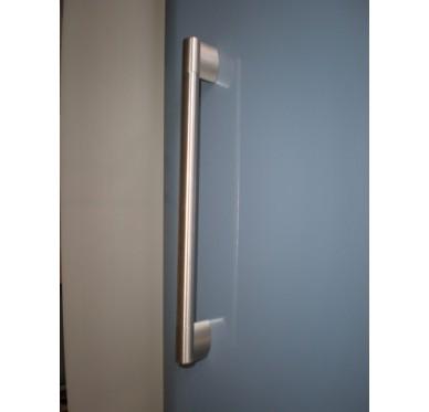 Poignée inox de porte de meuble L387mm