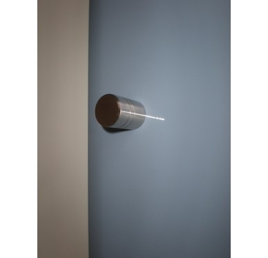 Bouton de porte de meuble rainuré chromé